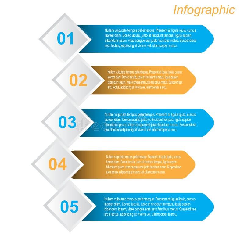 信息图表设计模板 免版税库存照片
