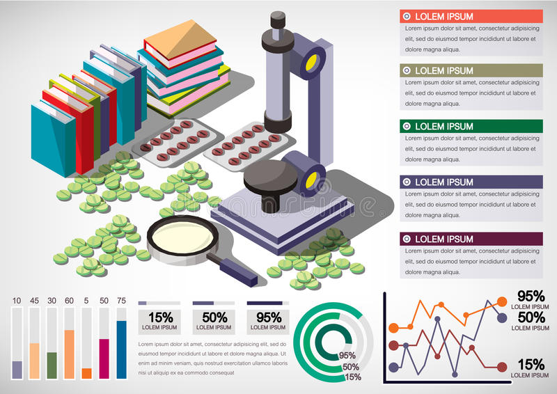 信息图表金钱设备概念的例证 向量例证