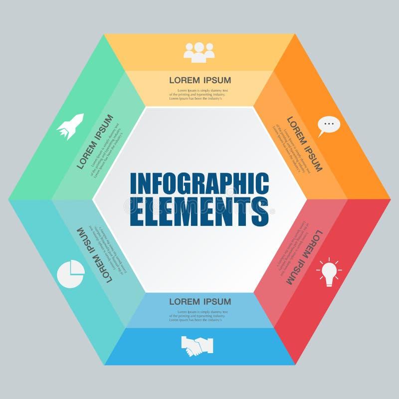 信息图表零件模板 现代的设计 向量例证