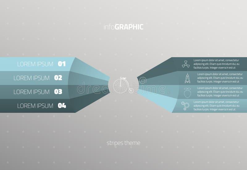 信息图表 库存例证