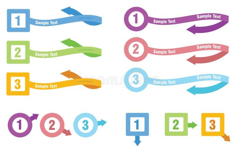 信息图象模板 库存例证