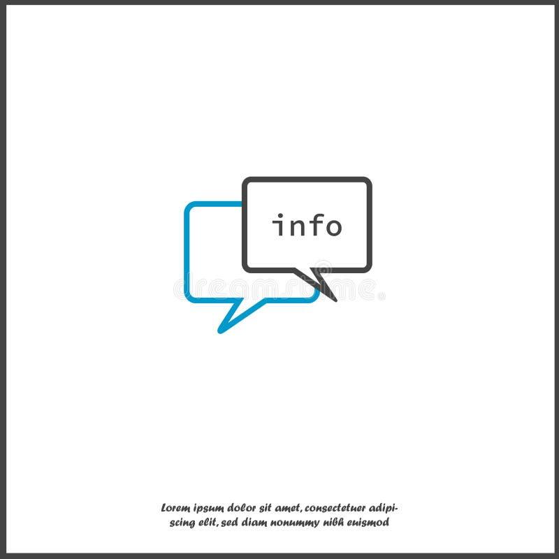信息在云彩的传染媒介象 在白色被隔绝的背景的信息illlustration 库存例证