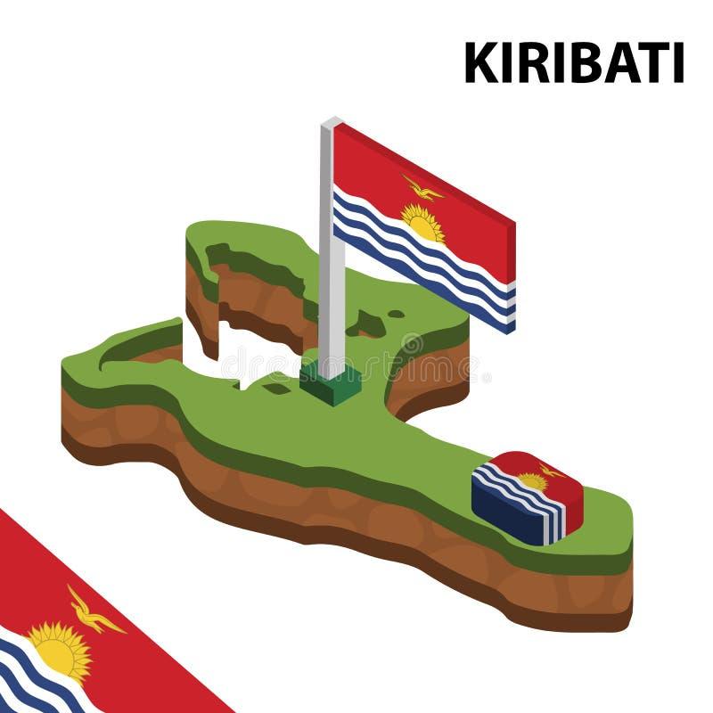信息基里巴斯的图表等量地图和旗子 r 向量例证