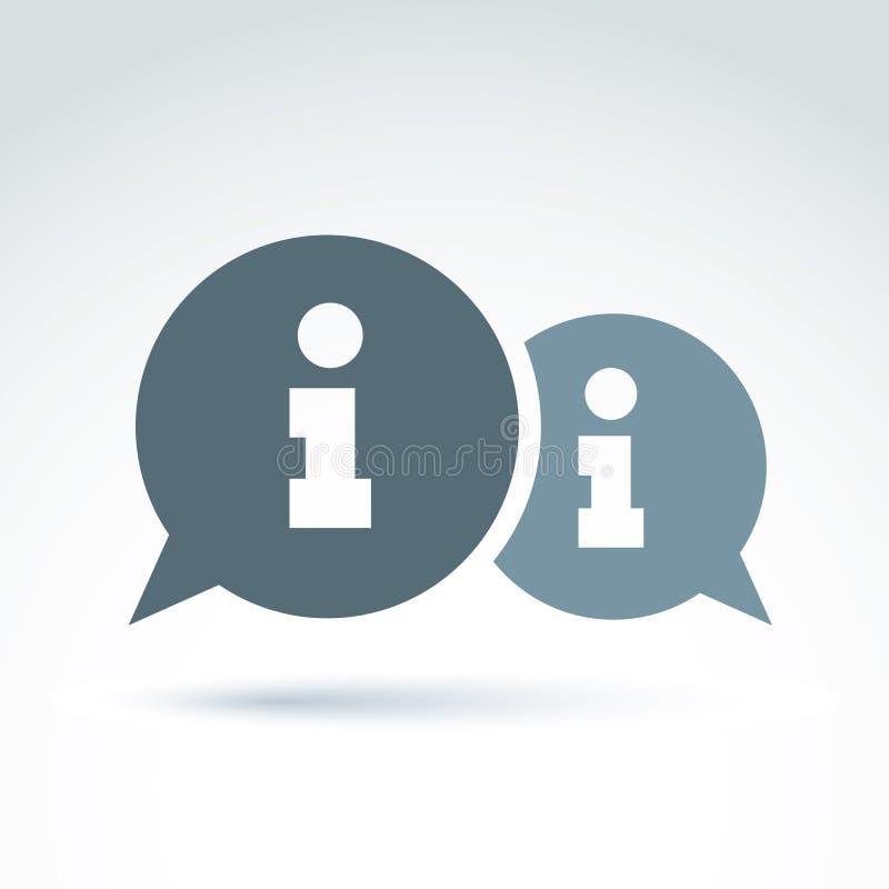 信息对话 库存例证