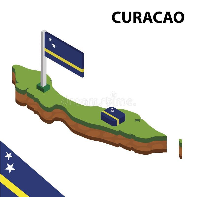信息库拉索岛图表等量地图和旗子  r 库存例证