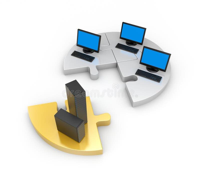 信息技术世界 库存例证