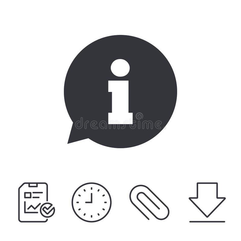 信息标志象 信息标志 皇族释放例证