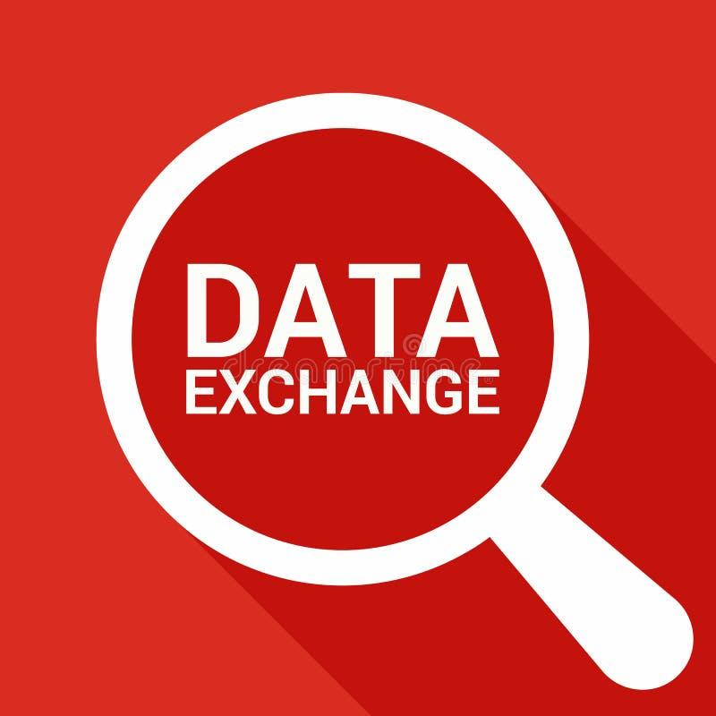 信息概念:与数据交换的词的扩大化的光学玻璃 向量例证