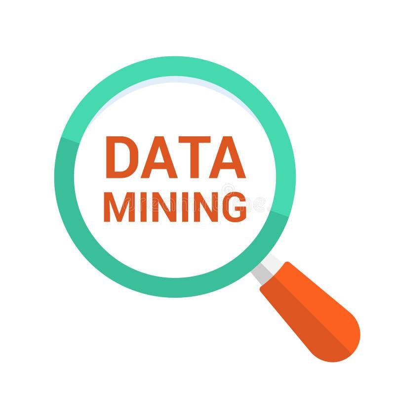 信息概念:与词数据采集的扩大化的光学玻璃 皇族释放例证