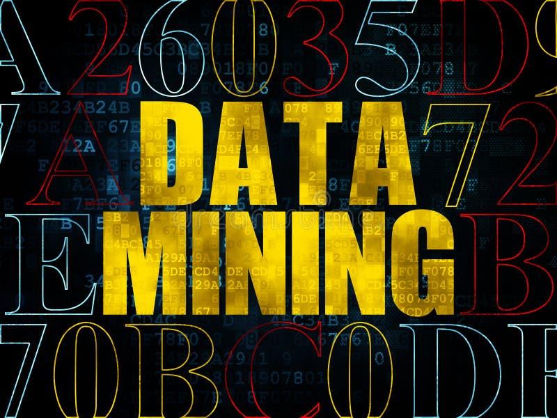 信息概念:在数字式数据采集 向量例证
