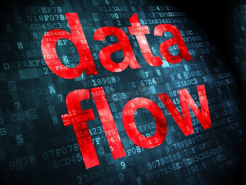 信息概念:在数字式背景的数据流 库存图片