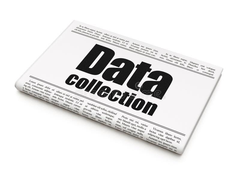 信息概念:报纸大标题搜集数据 皇族释放例证