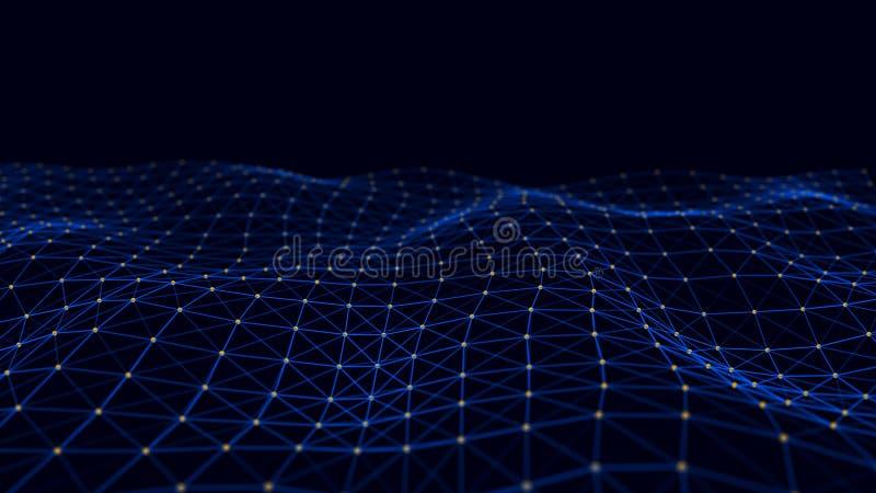 信息的结构连接 在网络连接的数据传送 抽象数据背景 3d?? 皇族释放例证