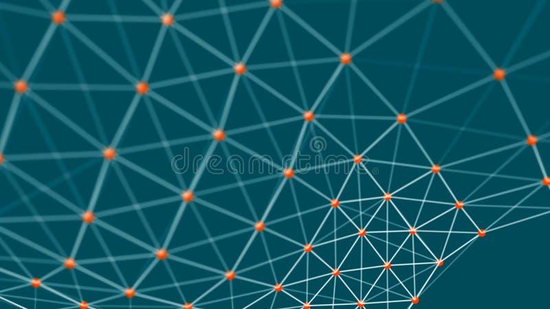 信息的结构连接 在网络连接的数据传送 抽象数据背景 3d?? 库存例证