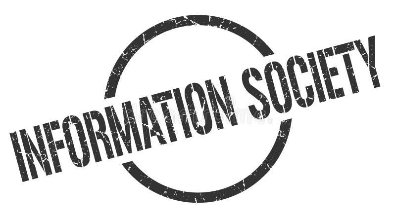 信息社会邮票 向量例证