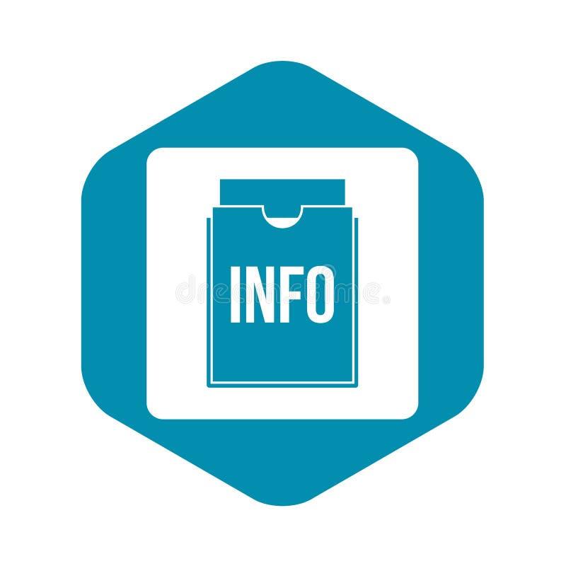 信息简单文件夹的象 向量例证