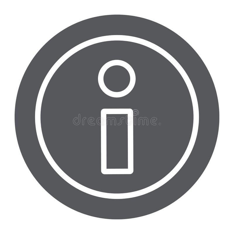 信息纵的沟纹象,帮助并且通知,信息标志,向量图形,在白色背景的一个坚实样式 皇族释放例证