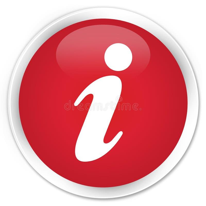 信息象优质红色圆的按钮 皇族释放例证