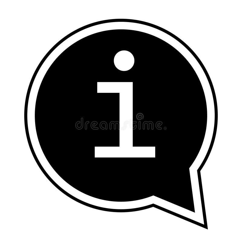 信息象传染媒介例证 信息标志 向量例证