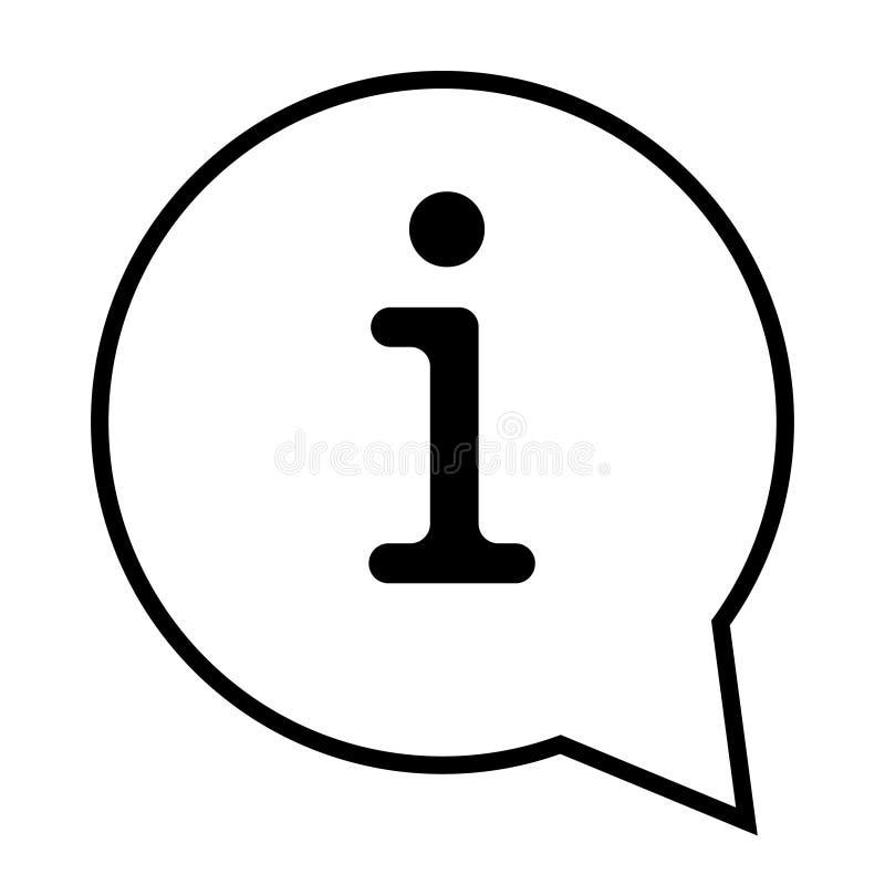 信息象传染媒介例证 信息标志 库存例证
