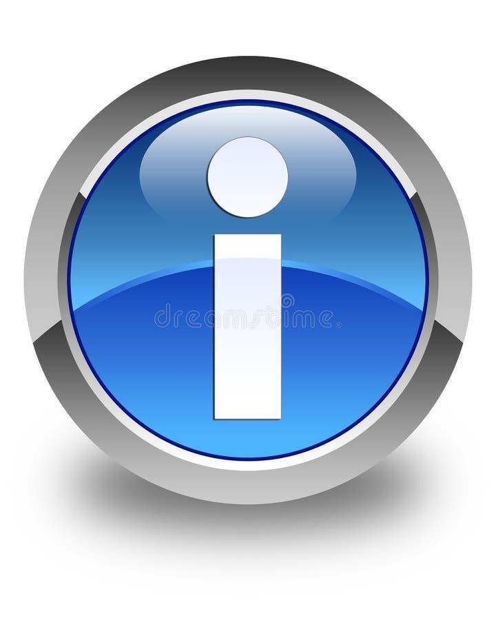 信息象光滑的蓝色圆的按钮 向量例证