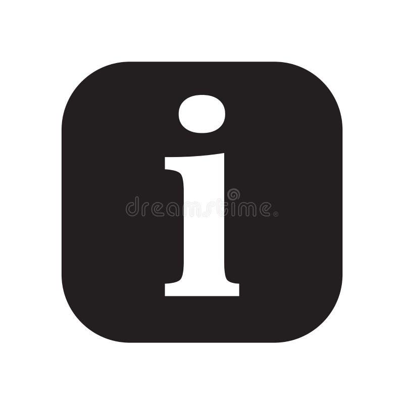 信息象在白色背景和标志隔绝的传染媒介标志,信息商标概念 向量例证