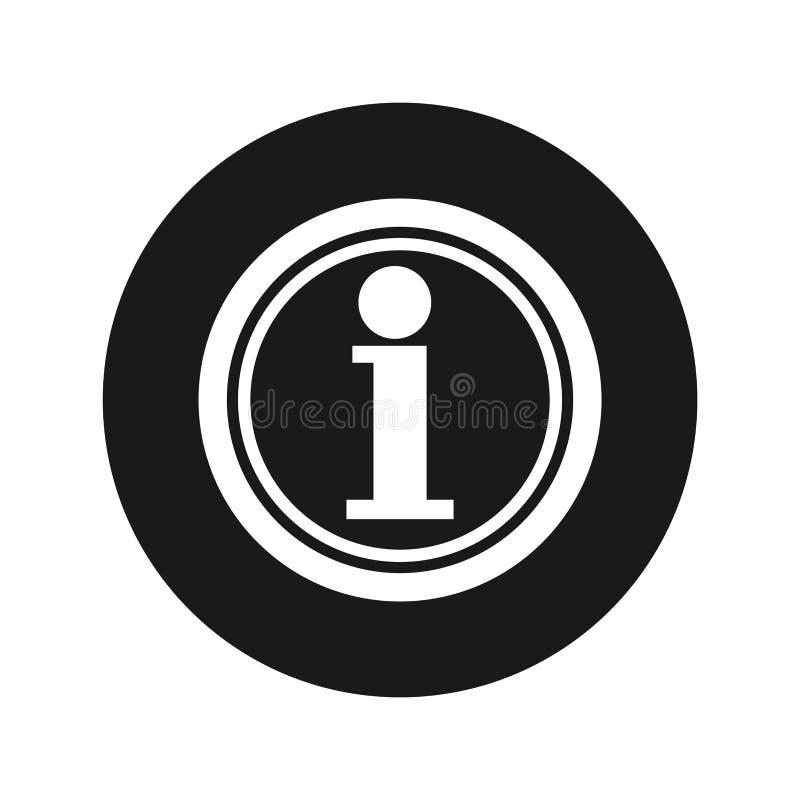 信息象浅黑圆的按钮传染媒介例证 向量例证