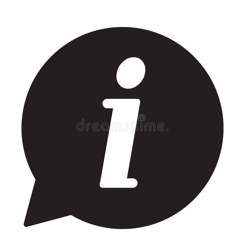 信息象,信息标志象 信息讲话泡影标志 我在传染媒介上写字 库存例证
