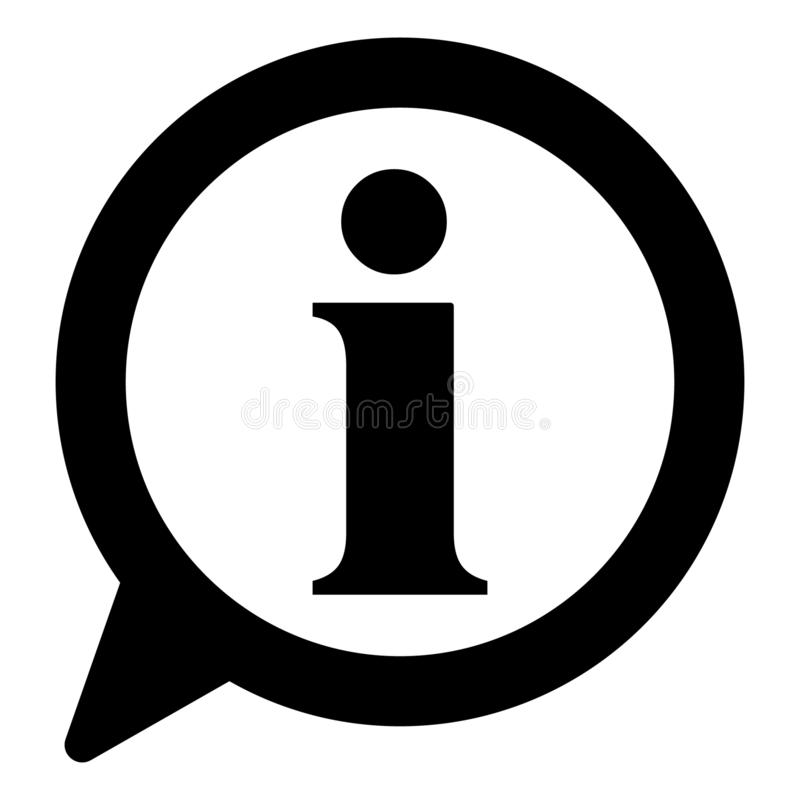 信息象,信息标志象 信息讲话泡影标志 i信件传染媒介 向量例证