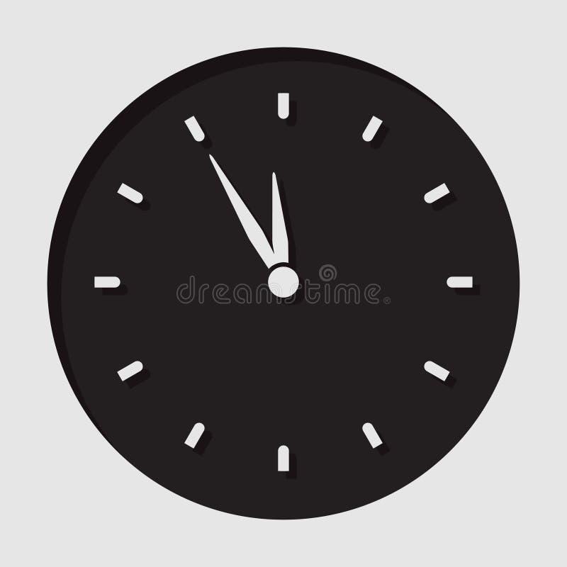 信息象-最后一刻的时钟 向量例证