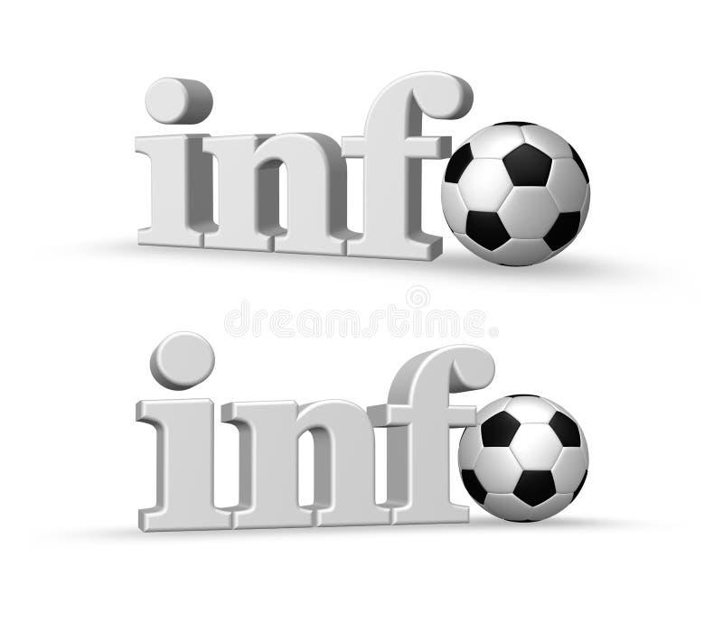信息足球 向量例证