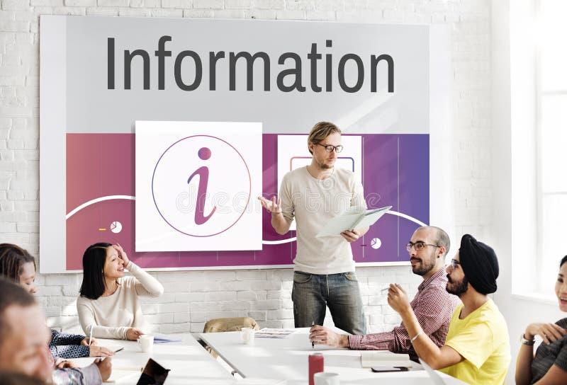 信息顾客服务询问台概念 图库摄影