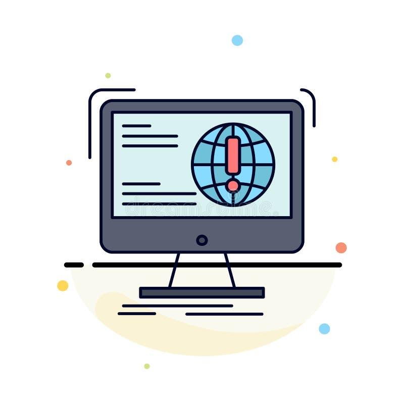 信息,内容,发展,网站,网平的颜色象传染媒介 向量例证