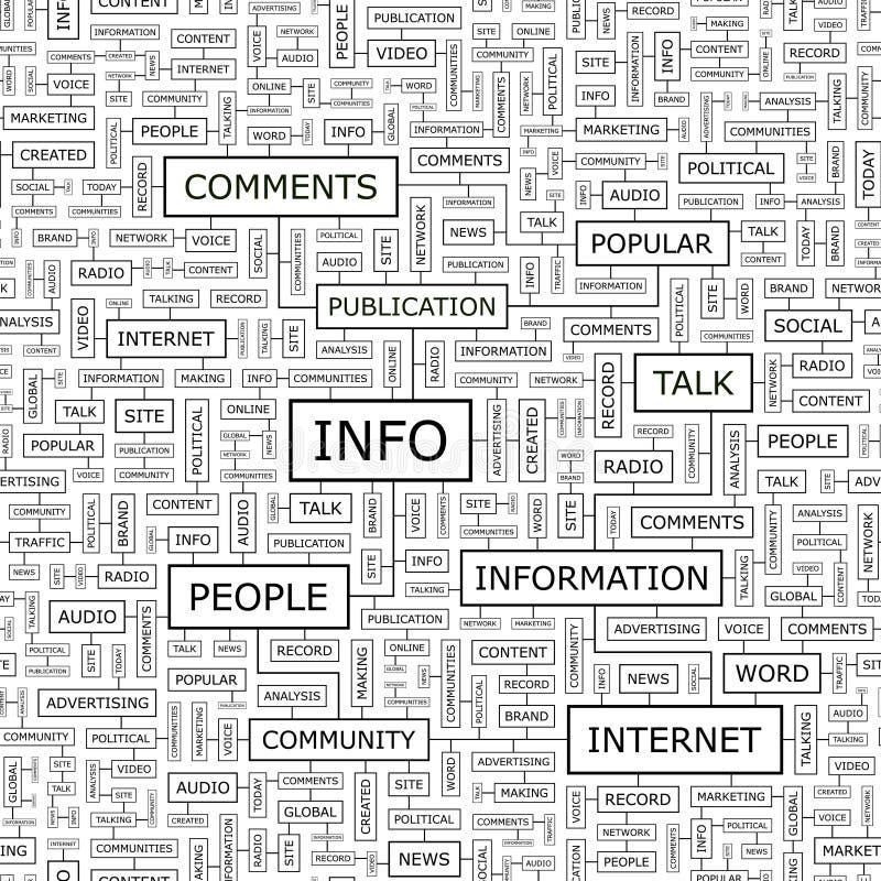 信息 向量例证