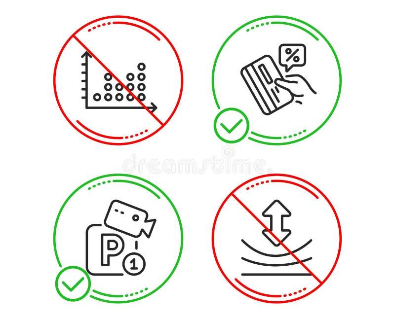 信用卡、停放的安全和小点剧情象集合 韧性标志 ?? 库存例证
