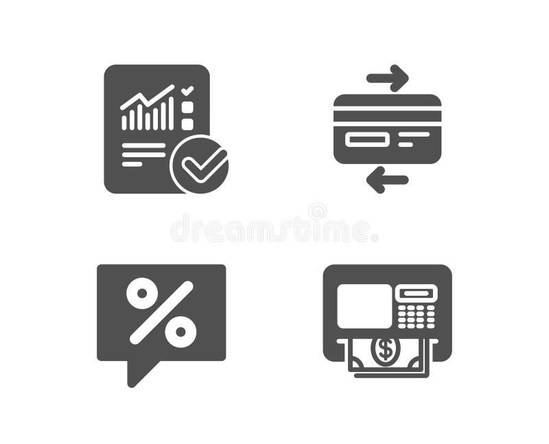 信用卡、被检查的演算和折扣消息象 ATM标志 库存例证
