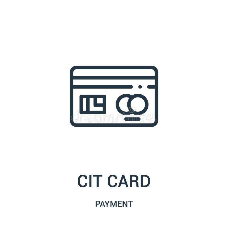 信用卡从付款汇集的象传染媒介 稀薄的线信用卡概述象传染媒介例证 向量例证