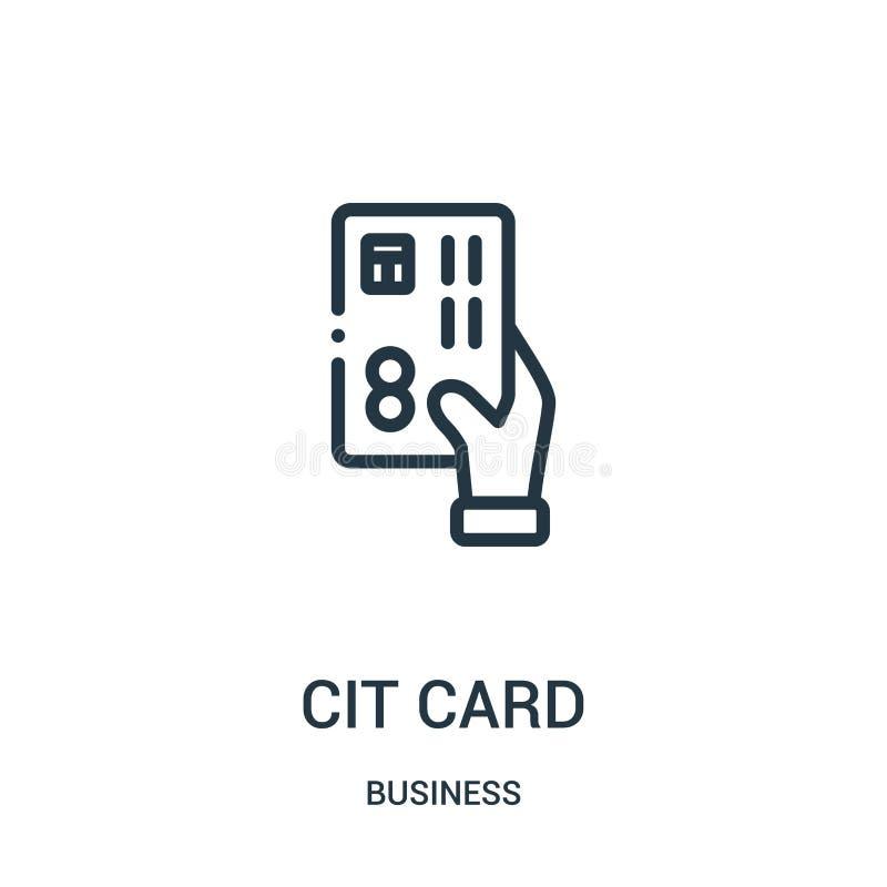 信用卡从企业汇集的象传染媒介 r r 库存例证