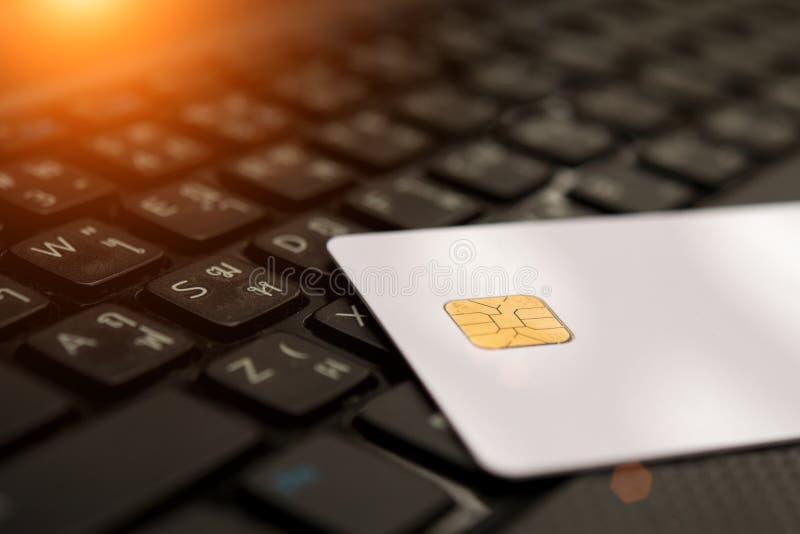 信用卡和图,关闭 免版税库存照片