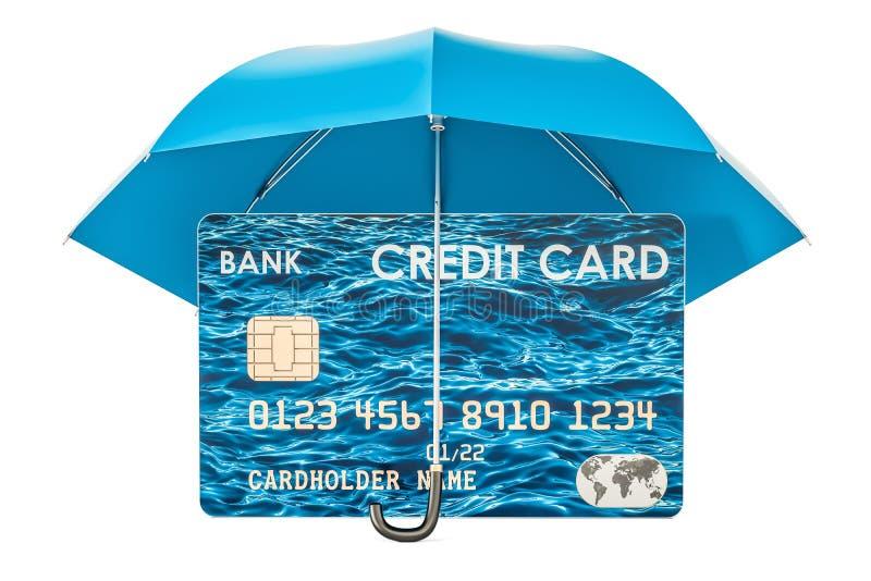 安全资格�y.i_信用卡在伞,安全付款概念下 3d