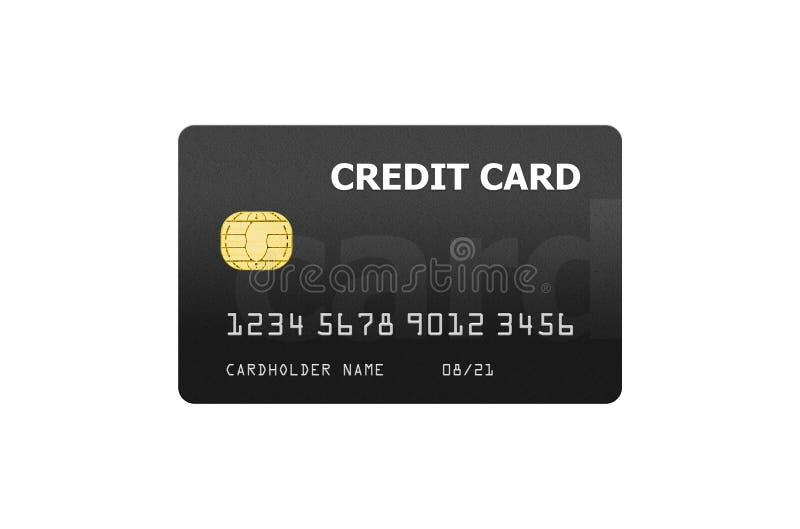 信用卡在白色隔绝的项目模板 免版税库存图片
