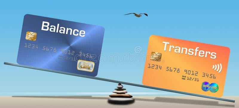 信用卡平衡和平衡调动 库存照片
