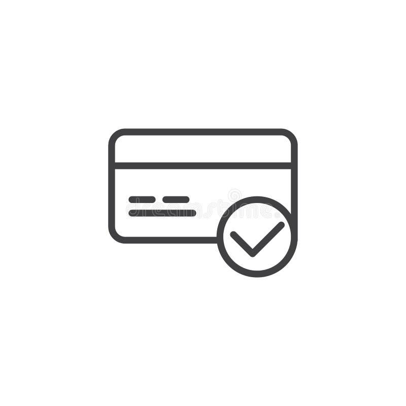 信用卡支付批准的概述象 皇族释放例证