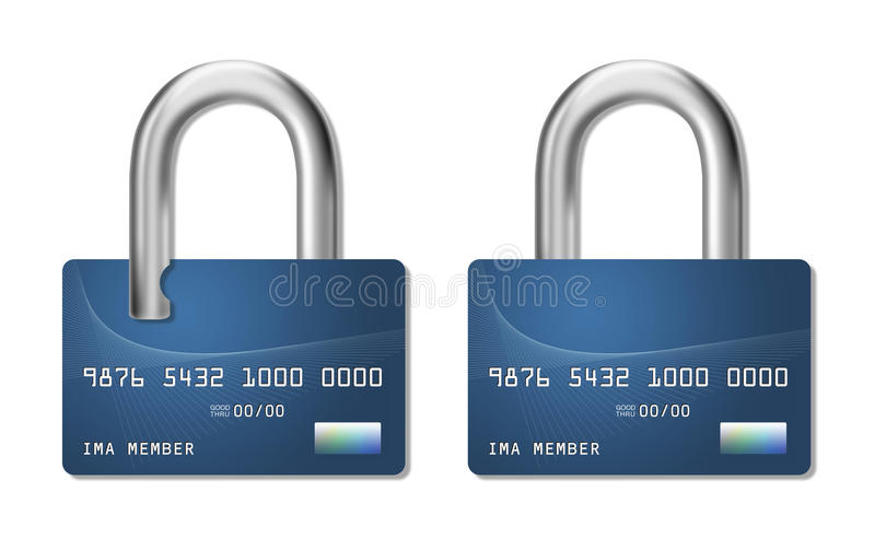信用卡欺骗 皇族释放例证