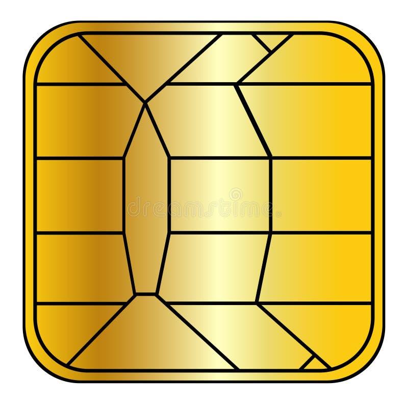 信用卡的筹码 向量例证
