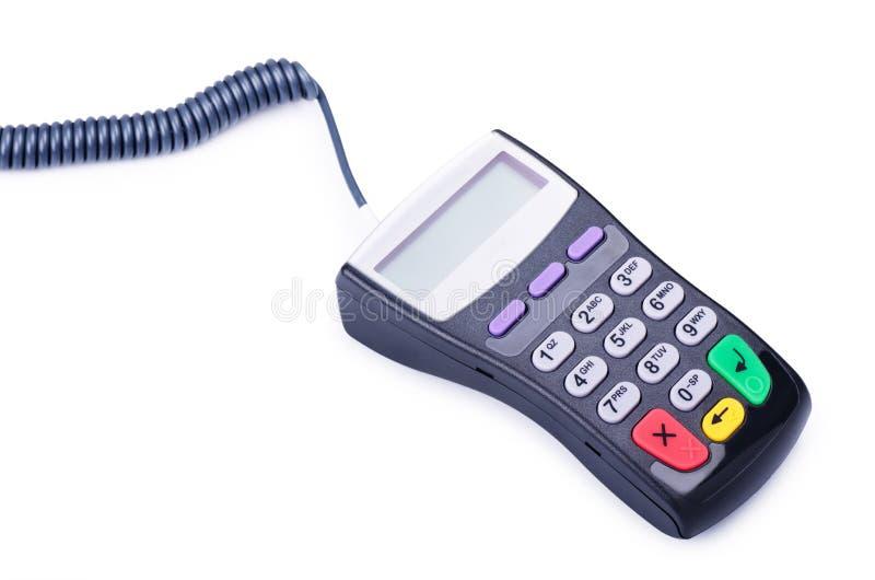 信用卡的付款终端 库存图片