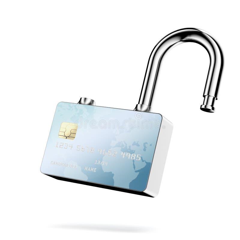 信用卡证券。 皇族释放例证