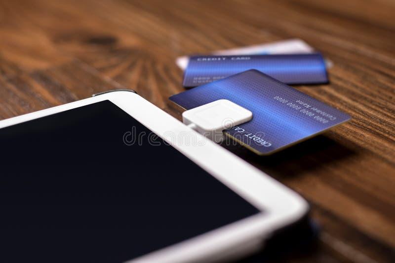 信用卡重击读者 库存图片