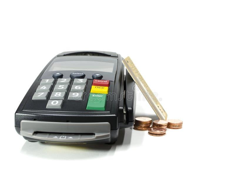 信用卡阅读程序 免版税库存照片