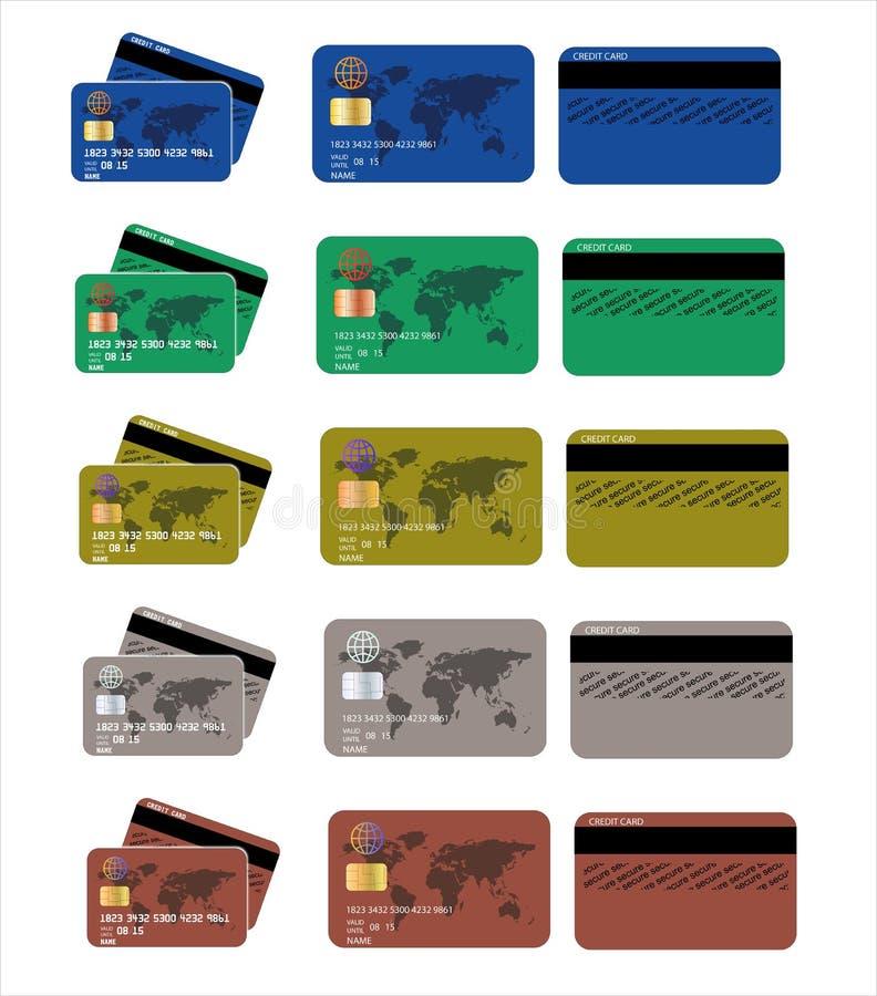 信用卡集合 皇族释放例证
